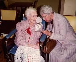 Teresa Pollak with Adele Clark, on Adele's 100th birthday at W-C ...