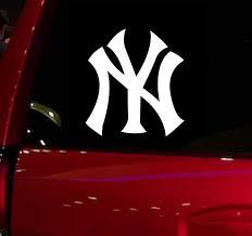Yankees Ny Baseball Game Auto Window Sticker Decal For Car Truck Suv Decal 5 5 Car Window Vinyl Die Cut Sticker White Aliexpress