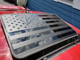 Pontiac Grand Prix 7th Gen Sunroof Usa Flag Vinyl Decal Mate Black Pontiac Grand Prix Vinyl Decals Pontiac