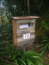 Our New Letterbox Recycled Fence Palings Ceramic Numbers From Portofino Italy Letter Box Recycle Timber Scrap Wood Crafts