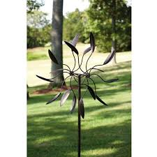 spinning metal outdoor garden art wind