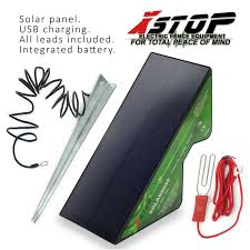 1km All In One Solar 12v Electric Fence Energiser Unit Panel Powered Stake Ce 5060560823780 Ebay