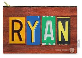 Ryan License Plate Name Sign Fun Kid Room Decor Carry All Pouch For Sale By Design Turnpike