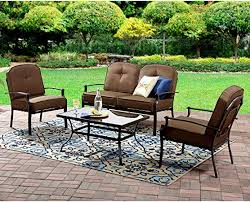 4pc patio set brown furniture one table