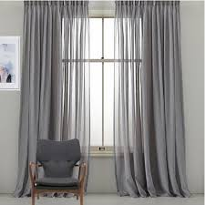 Kids Bedroom Stars Grey Gray Grommet Sheer Curtain Fabric Drape Eyelets Pinch