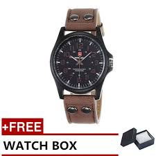 swiss army men s watches leather strap