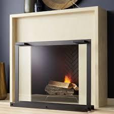 glass fireplace screen a window