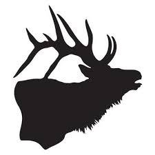 Elk Silhouette Decal Elk Silhouette Monogram Art Silhouette Art