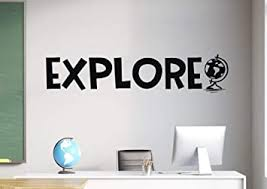 Amazon Com Wall Stickers Decal Wall Art 29 5 X 15 74 Inch Explore Wall Decal Explore Vinyl Decal Explore Wall Art Explore Nursery Explore Decal Globe Wall Decal Globe Decal Explore Art Baby