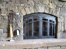 hand crafted custom fireplace screen