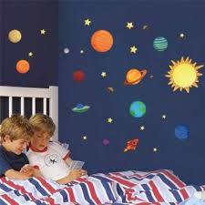 Space Rocket Wall Stickers Themed Art Invaders Dunelm Not On The High Street 3d Vamosrayos