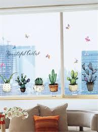 Cactus Wall Decal Shein Usa