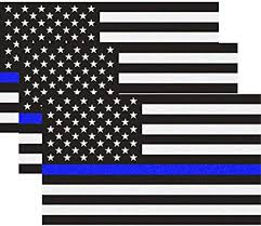 Amazon Com Reflective Us Flag Decal Packs With Thin Blue Line For Cars Trucks 5 X 3 Inch American Usa Flag Decal Sticker Honoring Police Law Enforcement Vinyl Window Bumper Tape 3 Pack