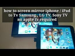 how to screen mirror iphone ipad to tv