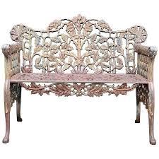 cast iron garden bench seat ornate