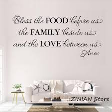 Kitchen Decor Blessing Wall Decals Dining Room Food Family Love Wall Sticker Quote Living Room Decorate Waterproof Decal Z073 Wall Stickers Aliexpress