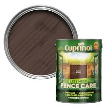 Cuprinol Less Mess Fence Care Rustic Brown Matt Wood Paint 5 Departments Diy At B Q
