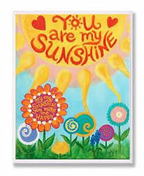 The Kids Room By Stupell You Are My Sunshine Rectangle Wall Plaque 11 X 0 5 Ebay