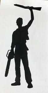 Ash Silhouette Ash And The Evil Dead Vinyl Decal For Car Laptop Or Wall Ebay