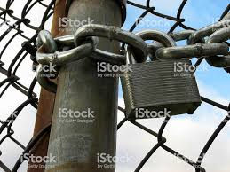 Lock Chains And Chain Link Fence Stock Photo Download Image Now Istock