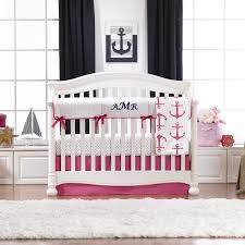 hot pink anchors baby bedding anchors