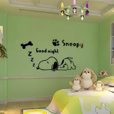 Snoopy Dog Cartoon 3d Wall Sticker Home Kids Room Bedroom Wall Decorations Living Room Pegatinas Wallpaper Quarto Wall Decals For Adults Wall Decals For Bedroom From Herbertw 18 15 Dhgate Com