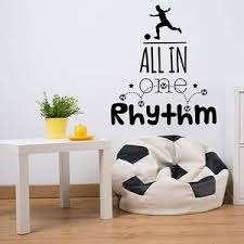 All In One Rhythm Soccer Wall Decal Style And Apply