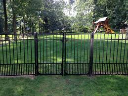 Aluminum Fence For Your Small Dog Or Puppy Call Bergen Fence Today For A Free Estimate Bergenfence Smalldogs Puppies Aluminum Fence Fence Outdoor Decor