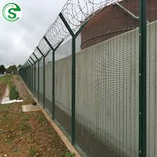 China Y Shape High Security 358 Fence Design Prison Fencing With Razor Wire China 358 Fencing Anti Cut Anti Climb Fence