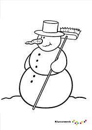 Kleurplaat Sneeuwpop Onderbouwd Winter Winter Sneeuwpop At