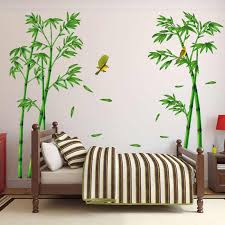 Diy Tree Home Decor Stickers For Living Room Forest Decoration Depth Wall Sticker Creative Chinese Style Removable Green Bamboo Wall Stickers Aliexpress