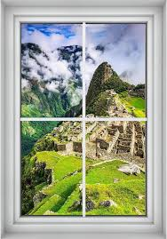 Machu Picchu Peru 3d Window Wall Decal Sticker Mural Instant Etsy Window Wall Nature View Wall Decal Sticker