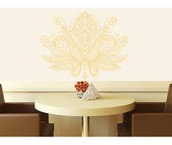 Bungalow Rose Estrella Lotus Flower Mandala Wall Decal Reviews Wayfair