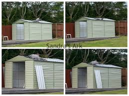 sandra s ark erecting a new garden shed