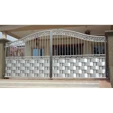 Modern Stainless Steel Entrance Gate At Rs 380 Kilogram Designer Stainless Steel Gate Ss Gate स ट नल स स ट ल ग ट Ss Steel Railing Khamgaon Id 14940736955