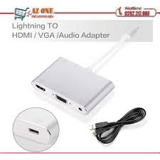 Cáp chuyển đổi Lightning to HDMI VGA Audio Adapter Dành Cho Iphone, Ipad