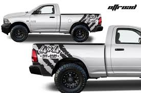 Dodge Ram 1500 2500 2009 2018 Custom Vinyl Decal Kit Off Road Factory Crafts