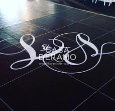Personalized Dance Floor Vinyl Decal Casa D Eramo