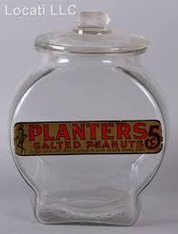 six original vintage planter s peanut jars
