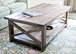 rustic x coffee table ana white