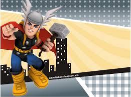 Plantilla Invitacion Cumpleanos Thor Super Heroes Superhero