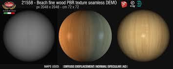 Beech fine wood PBR texture-seamless 21558