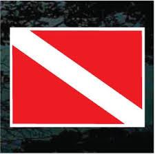 Dive Flag Decal Window Sticker