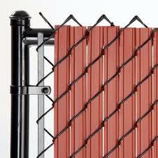 Slat Depot Chain Link Redwood Solitube Max Privacy Slat For 4 Ft Fence Bottom Lock