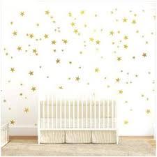 Gold Stars Wall Decal Stars Pattern Diy Wall