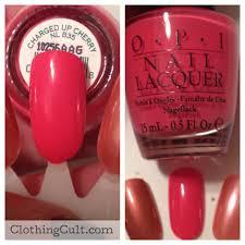opi nail polish charged up cherry
