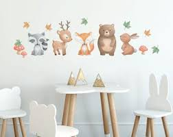 Woodland Wall Decal Etsy