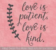 Great Love Wall Quotes Love Is Patient Kind Vinyl Art Decal Stickers