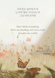 butterfly bts notebook don t think of anything don t say