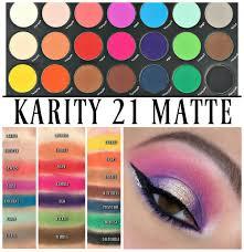karity 21 matte eyeshadow palette